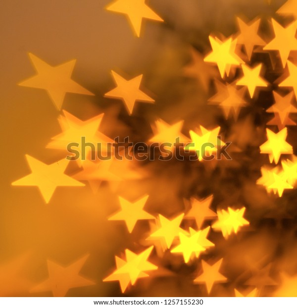 defocused stars light background