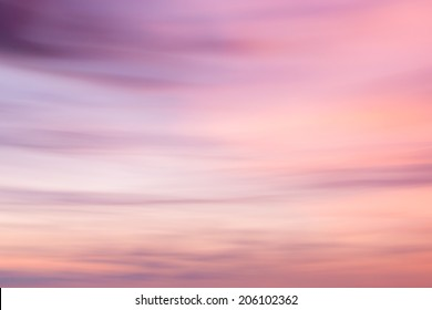 Defocused sunset sky  natural background with  with blurred panning motion.