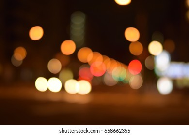 Defocused Traffic lights with beautiful Bokeh