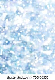 Defocused Unique Abstract Blue Bokeh Festive Lights