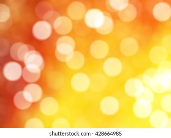 Defocused Unique Abstract Orange Bokeh Festive Lights