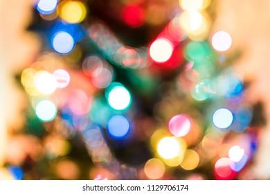 Defocussed Christmas holiday tree lights