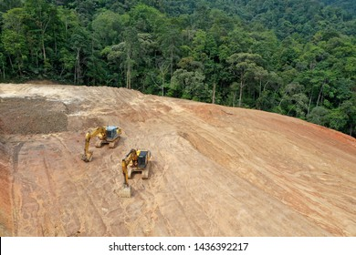 Deforestation of rainforest in Malaysia