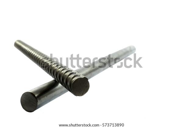 Deformed Steel Bar Round Steel Bar Stock Photo (Edit Now