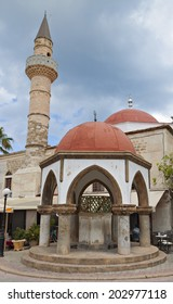 Deftendar Mosque at Freedom square of Kos island in Greece