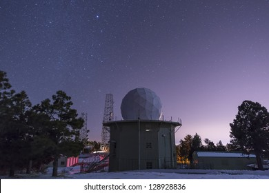 A defunct AFS radar tower still stands at Mount Lemmon Observatory near Tucson, Arizona.  A remnant of the Cold War.