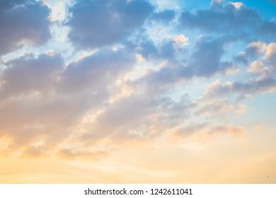 degrade sunset clound