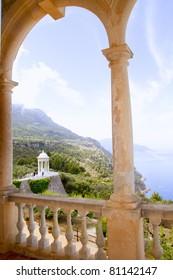 Deia mirador des Galliner at  Son Marroig palace Majorca in Balearic islands