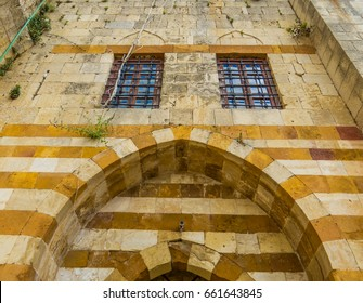 DEIR AL-QAMAR, LEBANON - MAY 20, 2017: Entrance of the Museum Marie Baz in the Fakhreddine II Palace.