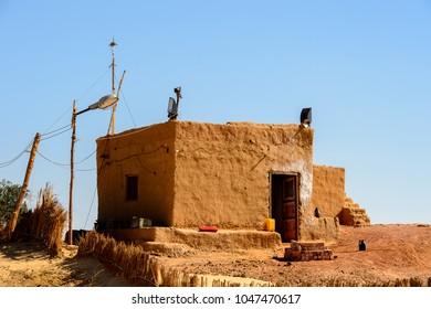 Deir el-Haggar temple, Dakhla Oasis, Western Desert, Egypt