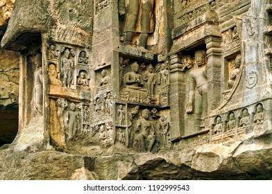 Deities at Kailasa Temple, Ellora, India