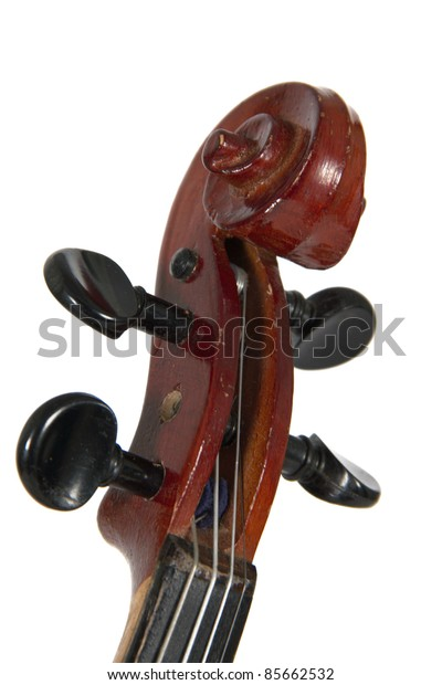 Deka violin isolated on a white background