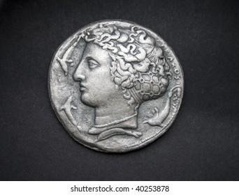 Dekadrachm, ancient Greek silver coin