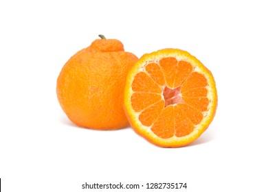 Dekopon fruit on white background