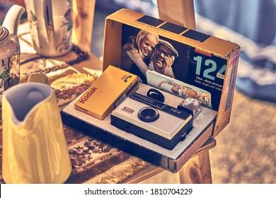 Viña del Mar, Valparaiso, Chile, September 1, 2019. Old Kodak instamatic Camera