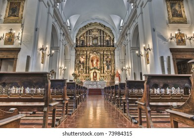 Del Pilar church interior located in Recoleta neighborhood at Buenos Aires, Argentina