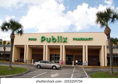 DELAND, FLORIDA, USA - MARCH 13, 2015: Publix supermarket in Deland city, Florida