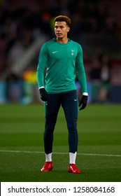 Dele Alli of Tottenham during the warm-up before the match between FC Barcelona and Tottenham Hotspurs at Camp Nou Stadium in Barcelona, Spain on December 11, 2018.