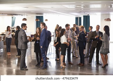 Delegates Networking At Conference Drinks Reception - Shutterstock ID 479633479