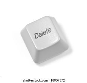 delete key over white background