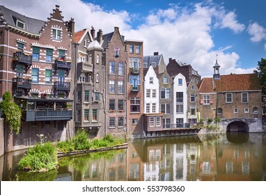Delfshaven in Rotterdam, historic center of Netherlands