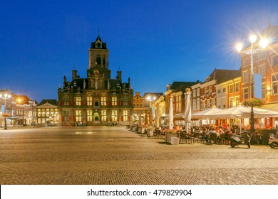 Delft. Market Square.