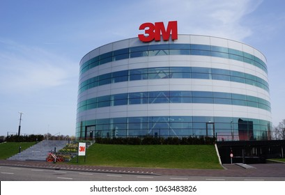 Delft, the Netherlands. April 2018. 3M company building and logo. 3M is a global science company.