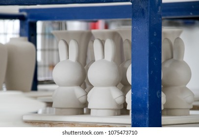 Delft, Netherlands March 2018 - Royal Delft Factory - Miffy Toys