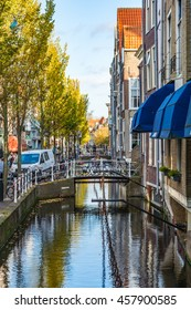DELFT, THE NETHERLANDS - November 2, 2014: Delft is a city and a municipality in the Netherlands. It is located in the province of South Holland.