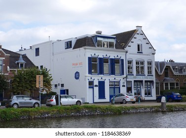 Delft, the Netherlands. September 2018. Museum called Delftse Pauw, a factory where the famous Delft Blue pottery is made.