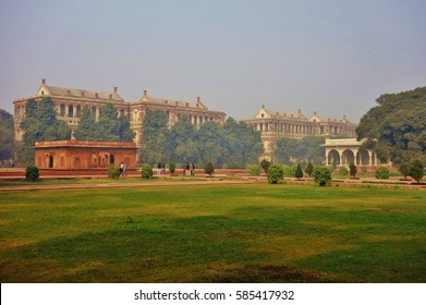 DELHI, INDIA -23 DEC 2016- The Red Fort Complex, a Mughal historical fortress located in the capital of India, is a UNESCO World Heritage Site.