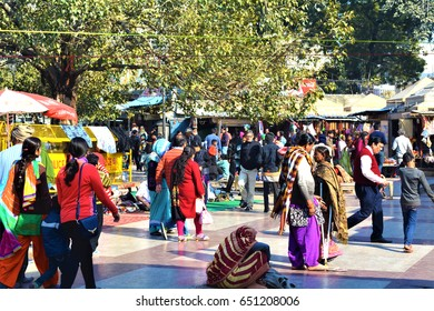 DELHI, INDIA - 26 DECEMBER 2015: A view of the Connaught Place Market of Delhi, India.