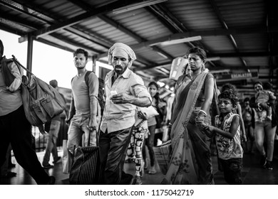Delhi, India - August 2018 - Train station in Delhi