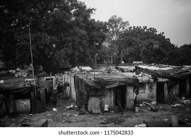 Delhi, India - August 2018 - Visiting the poorer areas of Delhi