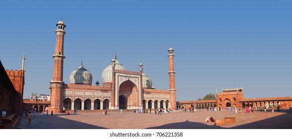 DELHI, INDIA - CIRCA DEC 2012: Jama Masjid mosque. The spectacular architecture in India