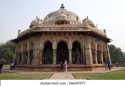 DELHI, INDIA - FEBRUARY 13: Isa Khan tomb, Humayun's tomb complex, Delhi, India on February 13, 2016