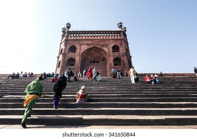DELHI, INDIA - JANUARY 5, 2015: Jama Masjid on January 5, 2015 in Delhi, India