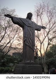 Delhi, Delhi / India - July, 08, 2019 : Replica of Rio Redeemer of Brazil made from useless material at Waste to Wonder Park, Delhi.