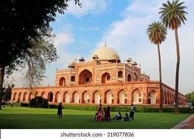 Delhi, India - July 20, 2015: The people visit to Humayun's tomb. Delhi, India.
