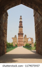 Delhi India -Jun 1,2018 : Kutub Minar India ,tallest minar of india