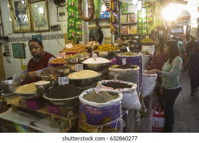 DELHI INDIA - MAR 21 : herb and spice display in spice market at old delhi. this market is famous and biggest spice market in delhi on march, 21, 2015, india