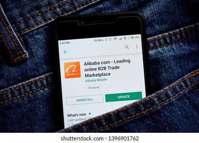 Delhi, india, May 13, 2019: Aliexpress application on play store, alibaba e-commerce app