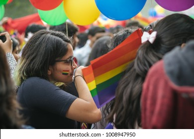 Delhi, India - November 12 2017 : Delhi Queer Pride Parade