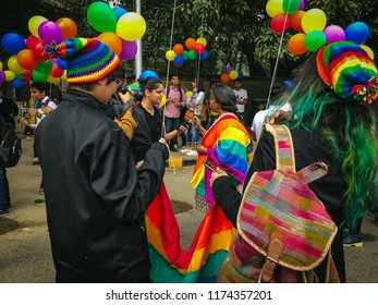 Delhi, India - November 12 2017 : Activists at Delhi Queer Pride Parade