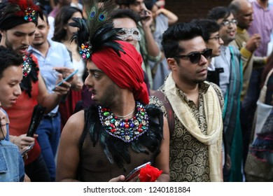 Delhi, India - November 25 2018 : 11th Delhi Queer Pride Parade 2018 (Different faces in the 11th Delhi Pride Parade)