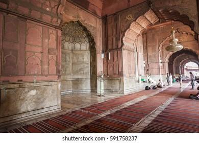 DELHI, INDIA - OCTOBER 12, 2013: Jama Masjid Mosque in Delhi.