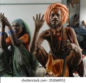 Delhi,India - Aug.26,2007: A Hindu sadhu