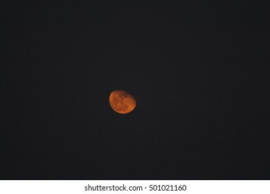Delhi/India : Oct 19, 2016 :: Blood red Moon in the sky on karwachauth festival