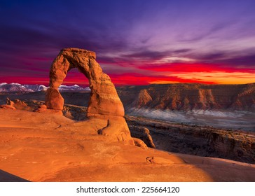 Delicate Arch, Late Afternoon View, Arches National Park, Utah