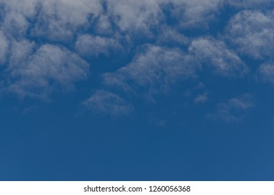 Delicate clouds in the sky in summer
